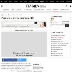Prénom Marlene