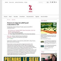 Prenons le siège de la BNP jeudi 3 décembre à 10h