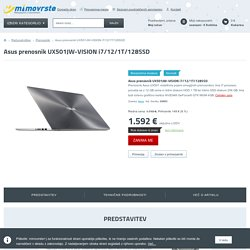 Asus prenosnik UX501JW-VISION i7/12/1T/128SSD