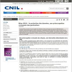 Bilan 2013 : la protection des données, une préoccupation croissante des particuliers
