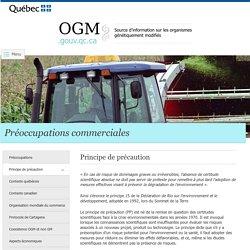 Préoccupations commerciales > Principe de précaution