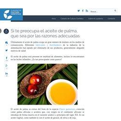 Si te preocupa el aceite de palma, que sea por las razones adecuadas - Cuaderno de Cultura Científica