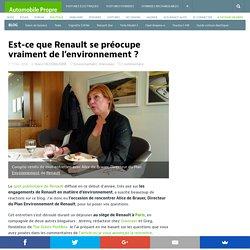 Est-ce que Renault se préocupe vraiment de l'environnement ?