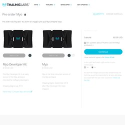 Buy Preorder Myo Gesture Armband Controller by Thalmic Labs