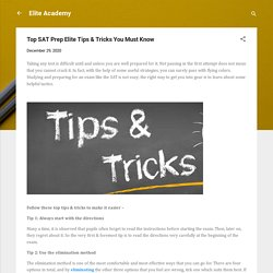 Top SAT Prep Elite Tips & Tricks You Must Know