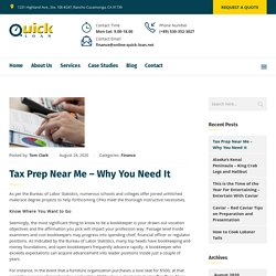 Tax Prep Near Me – Why You Need It