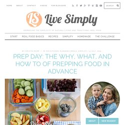 Prep Day: The Why, What, and How To of Prepping Food in Advance
