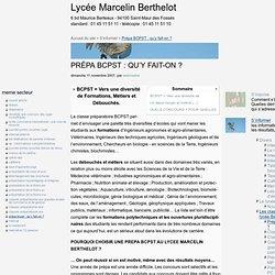 Biologie - Chimie - Physique - Sciences de la Terre : qu'y fait-on ? - Lycée Marcelin Berthelot