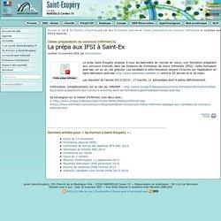 La prépa aux IFSI à Saint-Ex - Lycée Saint Exupéry