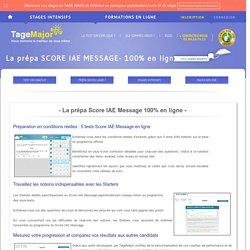 La prépa SCORE IAE MESSAGE - 100% en ligne