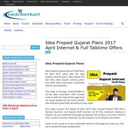 Idea Prepaid Gujarat Plans