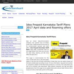 Idea Prepaid Karnataka Tariff Plans