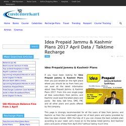 Idea Prepaid Jammu & Kashmir Plans