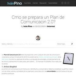 Cmo se prepara un Plan de Comunicacin 2.0?