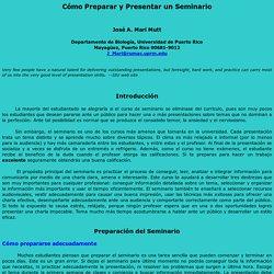 Guía para la Preparación y Presentación de Seminarios