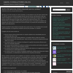 CAMBIOS DE LA 9001