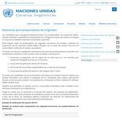 Ser corrector de pruebas en Naciones Unidas