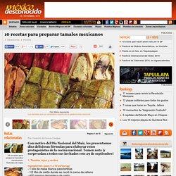 10 recetas para preparar tamales mexicanos