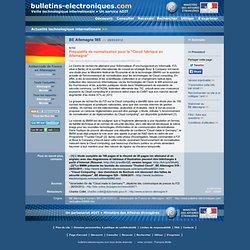 """03/28> BE Allemagne565> Préparatifs de normalisation pour le """"Cloud fabriqué en Allemagne"""""""