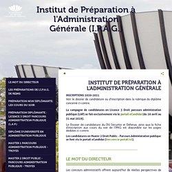 INSTITUT DE PRÉPARATION À L'ADMINISTRATION GÉNÉRALE