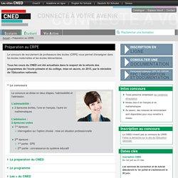 Préparation au CRPE : admissiblité + admission - CNED