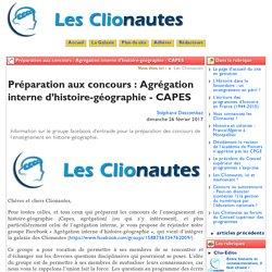 Voir le groupe Facebook les Clionautes : préparation agrégation interne histoire et géographie