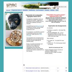 Préparation Agregation Interne SVTU UPMC Paris 6
