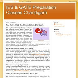 Best Coaching Institute For The Prepration Of IES, GATE, PSUs & Other Public Sector Exams.