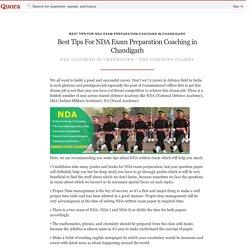 Best Tips For NDA Exam Preparation Coaching in Chandigarh - Quora