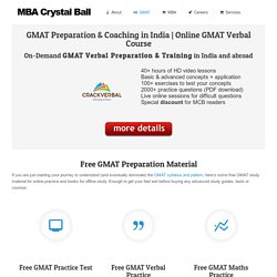 Best Online Coaching Classes - MBA Crystal Ball