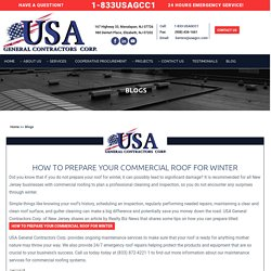 HOW TO PREPARE YOUR COMMERCIAL ROOF FOR WINTER