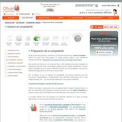 Préparation de la comptabilité, classement des factures, saisie comptable