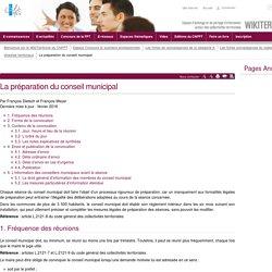 La préparation du conseil municipal (vitrine.La préparation du conseil municipal) - CNFPT