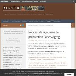 Podcast de la journée de préparation Capes/Agreg – Historiens contemporanéistes
