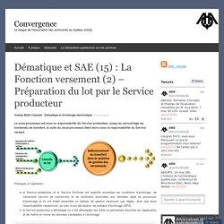 Dématique et SAE (15) : La Fonction versement (2) – Préparation du lot par le Service producteur