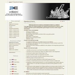 Cristallisation - sel sucre