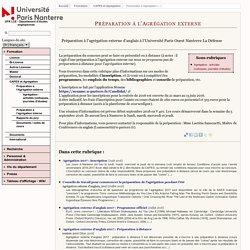 Préparation à l'Agrégation externe - UFR LCE - Département d'études anglophones