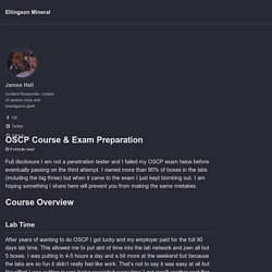 OSCP Course & Exam Preparation - Ellingson Mineral