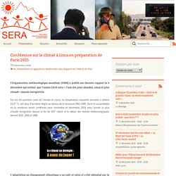 Conférence sur le climat à Lima en préparation de Paris 2015