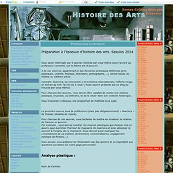 Préparation à l'épreuve - Histoire des Arts