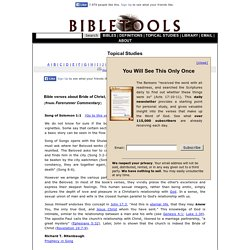 Bride of Christ, Preparation for Marriage (Forerunner Commentary) - Bible Tools