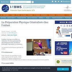 Préparation Physique Généralisée chez l'enfant