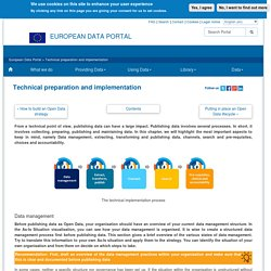 Technical preparation and implementation - European Data Portal