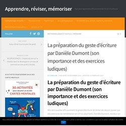 La préparation du geste d'écriture par Danièle Dumont (son importance et des exercices ludiques)