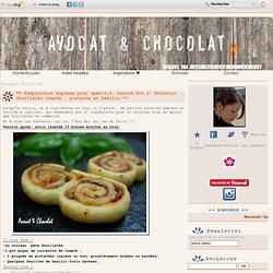** Préparation Express pour apéritif, brunch Act I: Palmitos feuilletés tomate , pistache et basilic ** - Avocat et Chocolat - Idées et Inspirations culinaires