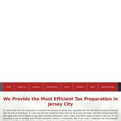 Tax Preparation Jersey City NJ