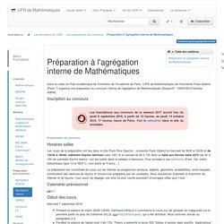 Préparation à l'agrégation interne de Mathématiques [UFR de Mathématiques]
