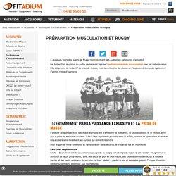 Conseils préparation musculation et rugby