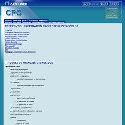 Centre de Pr paration aux concours et d Orientation Toulouse Blagnac - R f rentiel Professeur des coles