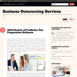 2016 Review of ProSeries Tax Preparation Software